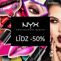 NYX Cosmetics līdz -50%