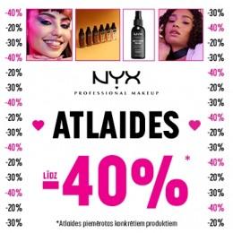 NYX Cosmetics līdz -40%
