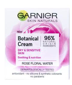 Garnier Skin Naturals Botanical Cream Dry & Sensitive Skin (50mL) Rose Floral Water