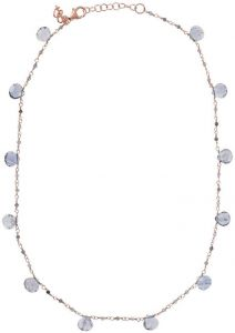 Bronzallure Rosary With Natural Stones Rose Gold/Iolite