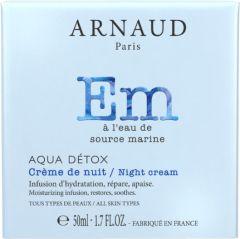 Arnaud Paris Aqua Detox Moisturizing Night Cream for All Skin Types (50mL)