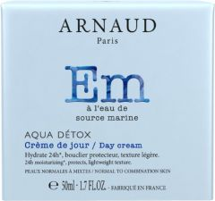 Arnaud Paris Aqua Detox 24h Moisturizing Day Cream for Normal and Combined Skin (50mL)