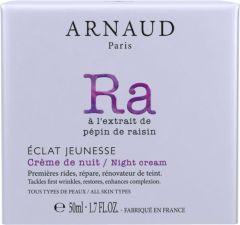 Arnaud Paris Eclat Jeunesse Rejuvenating Night Cream for All Skin Types (50mL)