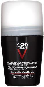 Vichy Homme Sensitive 72h Roll-on Deodorant
