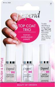 Depend PT Top Coat Trio - Shimmer, Silky Matte & Supershine