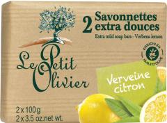 Le Petit Olivier 2 Extra Mild Soap Bars Verbena Lemon (2x100g)