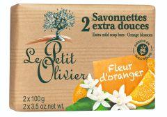 Le Petit Olivier 2 Extra Mild Soap Bars Orange Blossom (2x100g)