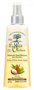 Le Petit Olivier No Rinse Hair Detangler Nutrition Dry and Damaged Hair Olive, Shea, Argan Olis (150mL)