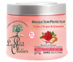 Le Petit Olivier Hair Mask Protective For Coloured and Highlighted Hair Argan Oil & Pomegranate (330mL)