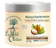 Le Petit Olivier Hair Mask Nutrition For Dry and Damaged Hair Olive, Shea, Argan Oils (330mL)
