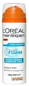 L'Oreal Paris Men Expert Hydra Sensitive Shave Foam (200mL)
