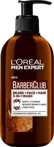 L'Oreal Paris Men Expert Barber Club Beard, Face And Hair Wash (200mL)