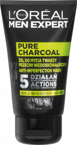 L'Oreal Paris Men Expert Pure Charcoal Face Wash With Black Charcoal (100mL)