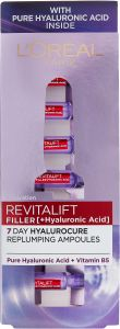 L'Oreal Paris Revitalift Filler Replumping Ampoules with Hyaluronic Acid (10,5mL)