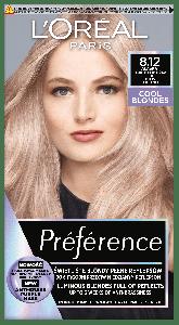 L'Oreal Paris Preference Cool Blondes Permanent Hair Color 8.12 Alaska