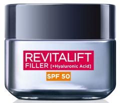 L'Oreal Paris Revitalift Filler Intense Replumping Anti-Ageing Cream SPF 50 (50mL)