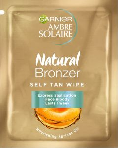 Garnier Ambre Solaire Natural Bronzer Self Tan Wipes for Face (5.6mL)