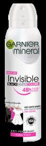 Garnier Mineral Invisible Black White Colors Spray Deodorant (150mL)