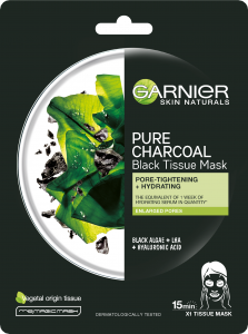 Garnier Skin Naturals Pure Charcoal Black Tissue Mask Black Algae