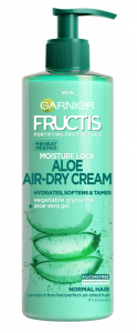 Garnier Fructis Aloe Hydra Bomb Leave-in Hair Cream For Taming Hair Without Blow Drying It With Hair Dryer (500mL)