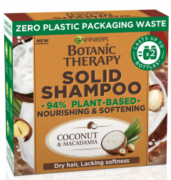 Garnier Botanic Therapy Coconut & Macadamia Nourishing And Softening Solid Shampoo (60g)