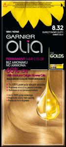 Garnier Olia No Ammonia Oil-based Permanent Hair Color 8.32 Amber Gold