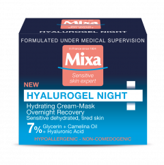 Mixa Hyalurogel Night Hydrating Cream-Mask