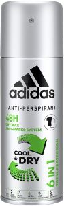Adidas Cool & Dry 6in1 Deospray (150mL)