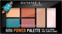 Rimmel London Mini Power Palette Lip, Cheek & Eye (6,8g) 004 Pioneer