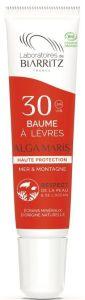 Laboratoires de Biarritz Certified Organic Protective Lip Balm SPF30 Water and Altitude (15mL)