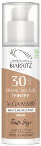 Laboratoires de Biarritz  Certified Organic SPF30 Beige Tinted Face Sun Cream (50mL)