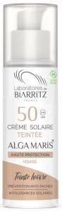 Laboratoires de Biarritz Certified Organic SPF50 Ivory Tinted Face Sun Cream (50mL)