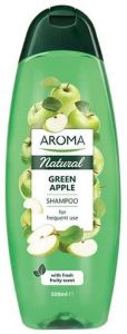 Aroma Natural Shampoo Green Apple For Frequent Use (500mL)