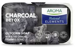 Aroma Natural Detox Soap With Active Charcoal And Chamomile Extract (100g)