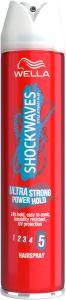 Wella Shockwaves Ultra Strong Power Hold Hairspray (250mL)