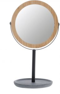 Casuelle Deluxe Make-up Mirror Bamboo Wooden Frame