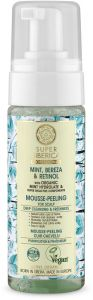 Natura Siberica Super Mint, Bereza & Retinol Mousse-Peeling for Scalp (170mL)