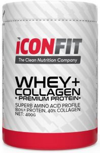 ICONFIT Whey+ Collagen (400g) Strawberry
