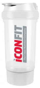 ICONFIT Shaker W. Bottom Storage (500mL) White