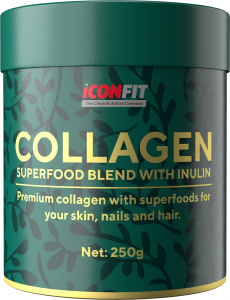 ICONFIT Collagen Superfoods (250g) Berries & Inulin Raspberry, Blackcurrant