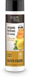 Organic Shop Smooth Skin Bath Foam Lemon Honey Cosmos Natural (Bdih) (500mL)