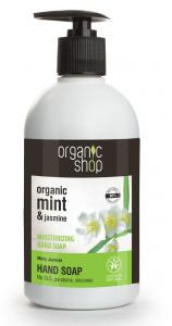 Organic Shop Moisturizing Hand Soap Minty Jasmine Cosmos Natural BDIH (500mL)