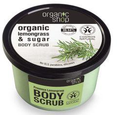 Organic Shop Body Scrub Provence Lemongrass_cosmos Natural BDIH (250mL)