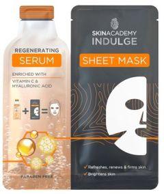 Skin Academy Indulge Serum Sheet Mask Regenerating 1 Dry Sheet Mask + Serum (25mL)