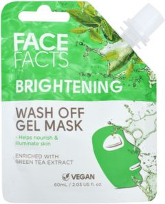 Face Facts Brightening Wash Off Gel Mask with Green Tea extract (60mL)