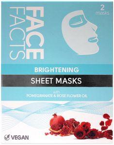 Face Facts Brightening Sheet Masks (2pcs)