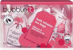 Bubble T Bath T-Bags in Hibiscus & Acai Berry Tea (3 x 120g)