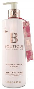 Boutique Vegan Hand & Body Lotion Cherry Blossom & Peony (500mL)
