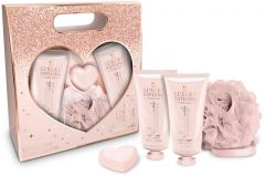 The Luxury Bathing Company Gift Set Creme Brulee & Orange Heart