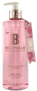 Boutique Vegan Hand Wash Gel Cherry Blossom & Peony (500mL)